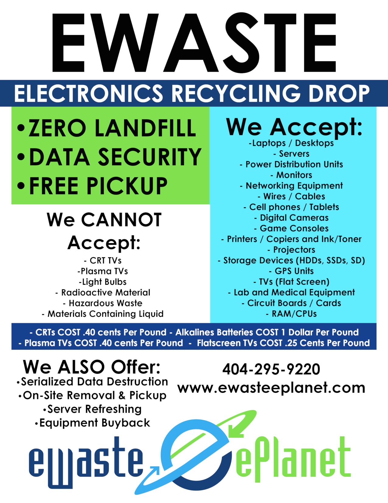 Data Center Electronics Recycling Data Destruction ITAD Atlanta Services Flyer